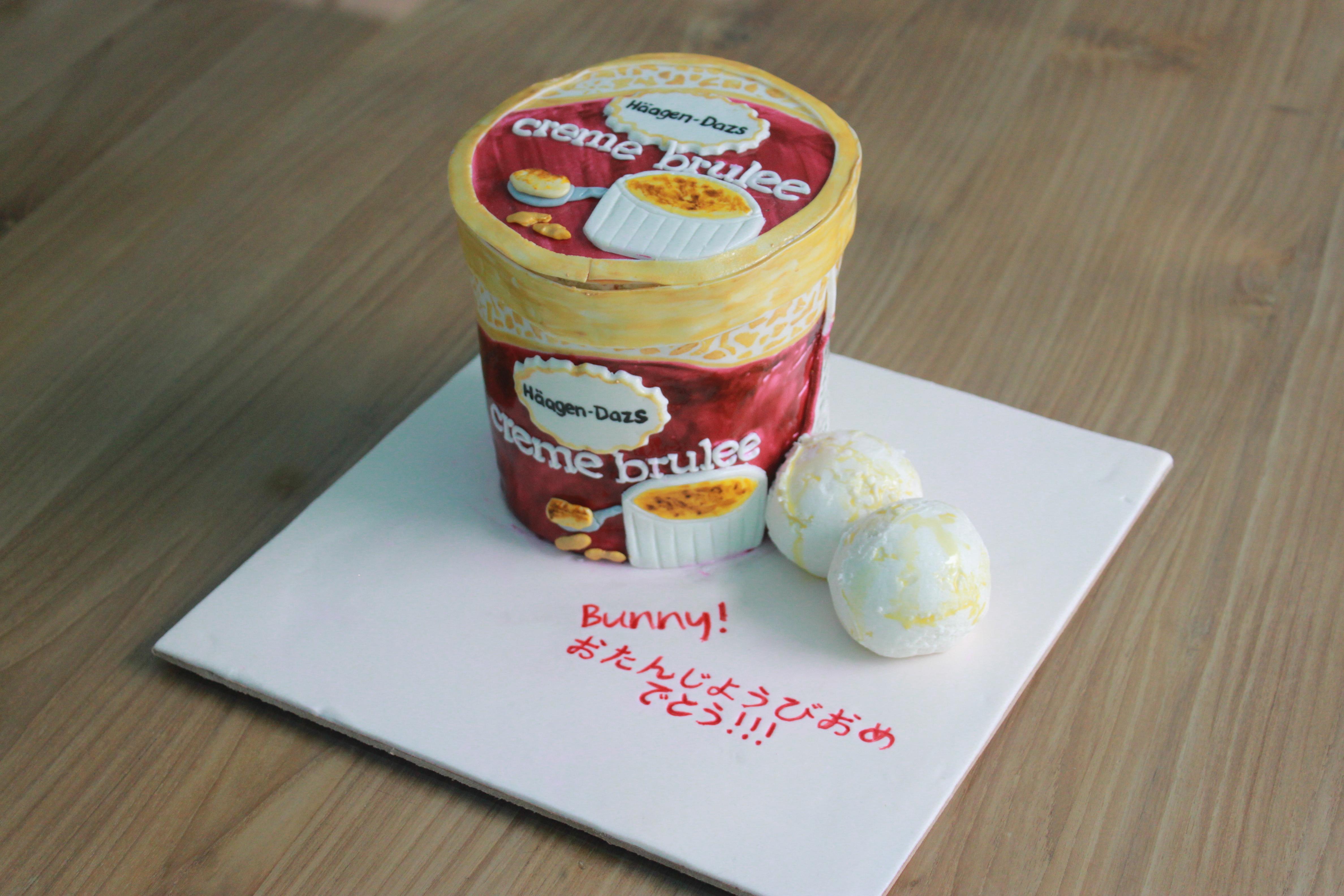 Sensational Haagen Dazs Cake Feat Sharon Au Personalised Birthday Cards Akebfashionlily Jamesorg