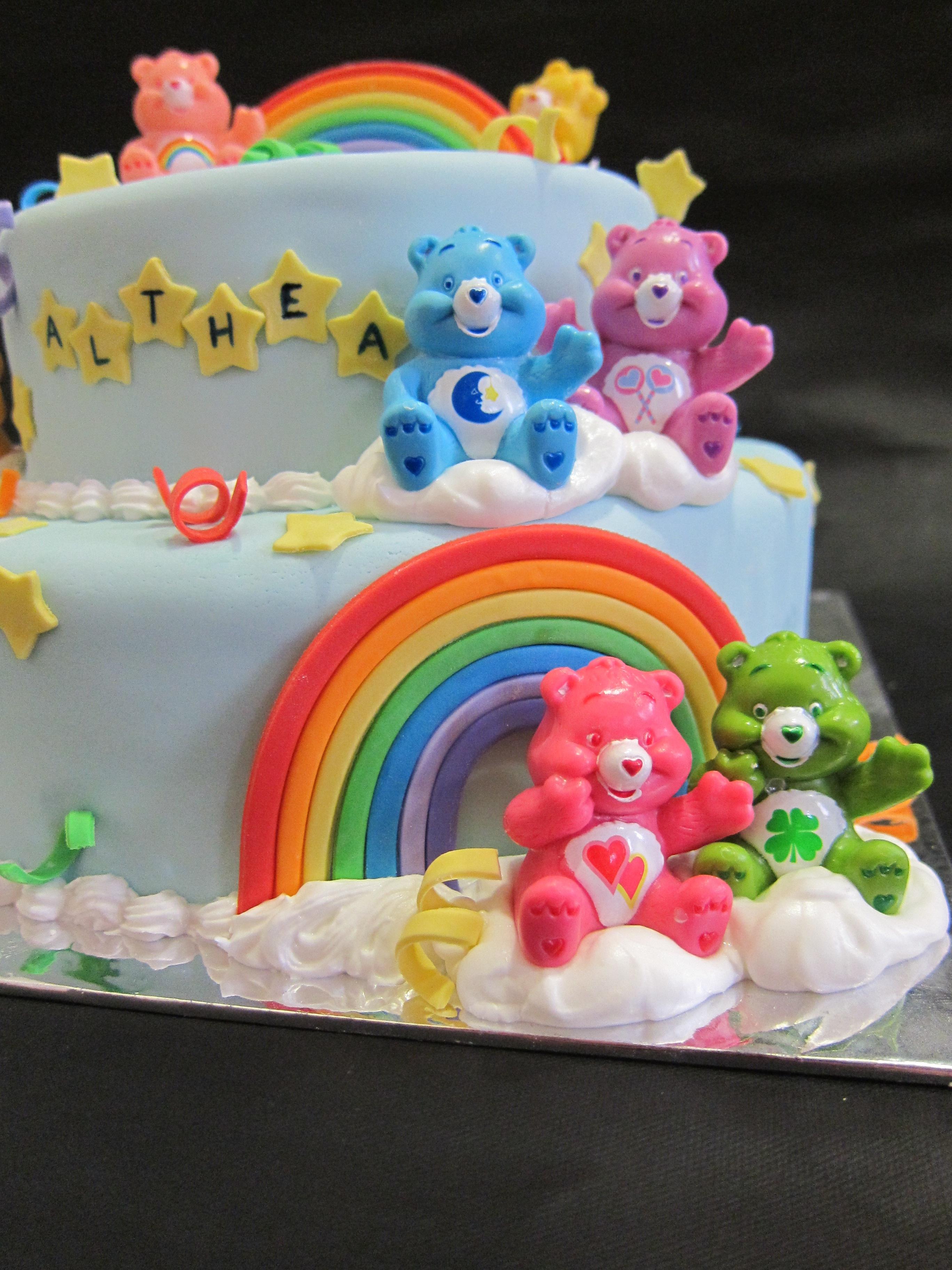 Cool Carebear Cake Funny Birthday Cards Online Alyptdamsfinfo